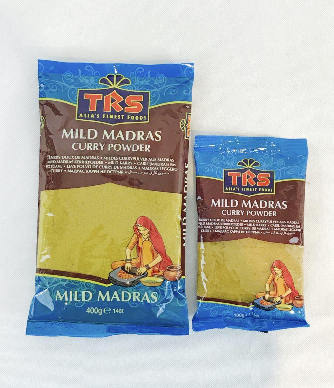 mild madras curry powder 400g 100g sonafood indische asiatische afro lebensmittel. Black Bedroom Furniture Sets. Home Design Ideas